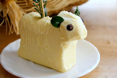 Easter lamb. Made with butter, tradition in Poland stock photography