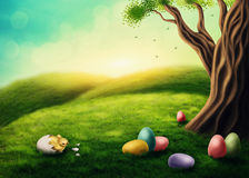 Easter landscape Royalty Free Stock Photo