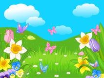 Easter Landscape Stock Image
