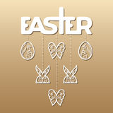 Easter laser cutting Royalty Free Stock Photos