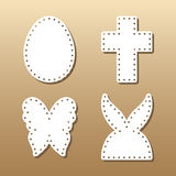 Easter laser cutting Royalty Free Stock Images