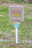 Easter Lawn Sign Royalty Free Stock Image