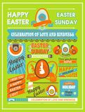 Easter leaflet Royalty Free Stock Image