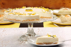 Easter lemon cake on the table Royalty Free Stock Images