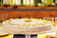 Easter lemon cake on the table Stock Photo