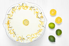 Easter lemon cake on a white wooden background Stock Image