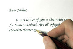 Easter Letter. Fountain Pen writing a letter Stock Image