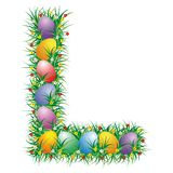 Easter letter L Royalty Free Stock Image