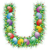Easter Letter U Stock Photos