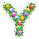Easter letter Y Royalty Free Stock Photo