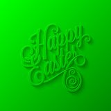 Easter lettering background Stock Images