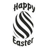 Easter lettering illustration. Easter cards with Easter Egg Royalty Free Stock Image