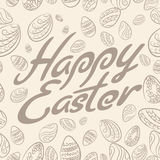 Easter lettering pattern pastel Stock Photo