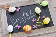 Easter letters with eggs Royalty Free Stock Photography