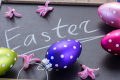 Easter letters with eggs Royalty Free Stock Photo