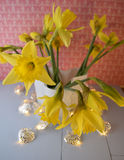 Easter lilies stock photo