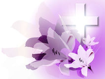Easter and Lily. Easter is a day to celebrate Jesus He has risen vector illustration