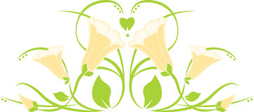 Easter Lily Border Royalty Free Stock Image