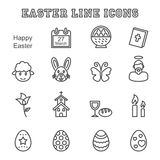 Easter Line Icons Stock Image