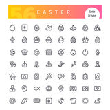 Easter Line Icons Set Royalty Free Stock Photo