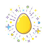 Easter line logo. Stock Photo