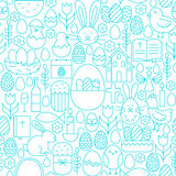 Easter Line Seamless White Pattern Royalty Free Stock Photos