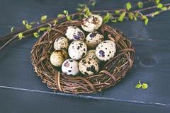 easter livstid fortfarande Guld- ägg över grön lutningbakgrund Royaltyfria Bilder