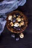 easter livstid fortfarande Guld- ägg över grön lutningbakgrund Royaltyfri Foto