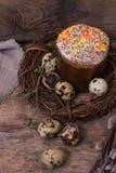 easter livstid fortfarande Påskkaka, ägg, påskkanin, påskkort arkivfoton