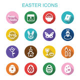 Easter long shadow icons Stock Image