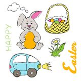 easter lycklig illustration Royaltyfria Foton