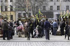 Easter Market March 30th. 2018 in Prague, The Czech Republic Eur stock image