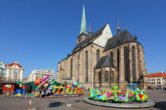 The Easter market in the Pilsen city. Stock Images
