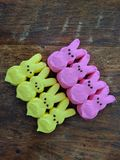 Easter marshmallow peeps Royalty Free Stock Images