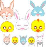 Easter Mask Set Royalty Free Stock Photos
