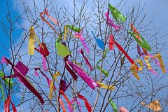 Easter maypole Stock Photo