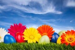 Easter meadow stock photos