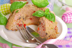 Easter meatloaf in ring cake shape Royalty Free Stock Images