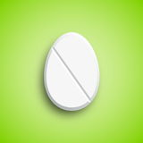 Easter medicine Pill in egg shape Royalty Free Stock Photography