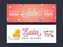 Easter Mega Sale web header or banner set. Royalty Free Stock Photography