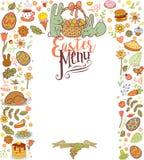Easter menu card Royalty Free Stock Image