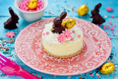 Easter mini cheesecake Royalty Free Stock Images