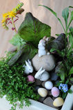 Easter miniature pot garden Royalty Free Stock Photography