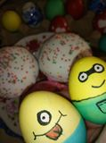 Easter Minions stock photography