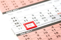 Easter monday on a calendar Royalty Free Stock Photo