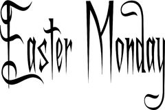 Easter Monday text sign illustration. On white Background Royalty Free Stock Image