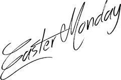 Easter Monday text sign illustration Royalty Free Stock Photos