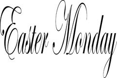 Easter Monday text sign illustration Royalty Free Stock Image