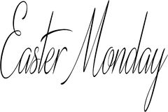 Easter Monday text sign illustration Stock Image