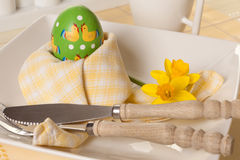 Easter morning breakfast Royalty Free Stock Photo